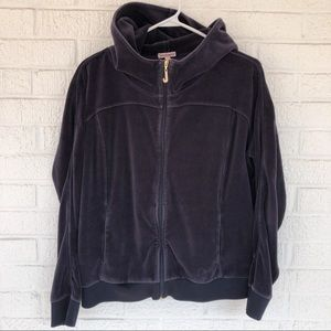 Juicy Couture Velour Track Jacket Zip Up Size XL